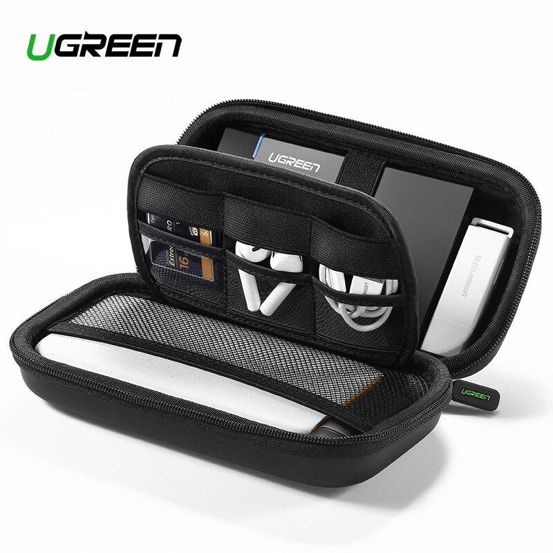 Ugreen Caso Hard Case Caixa de Banco de Potência para 2.5 Unidade de Disco Rígido SSD de Armazenamento de Transporte Cabo USB Externo Caso HDD