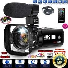 Kamera wideo 4K z mikrofonem kamera UHD do transmisji na żywo kamera internetowa pilot WiFi sterowanie Night Vision Portable Photography