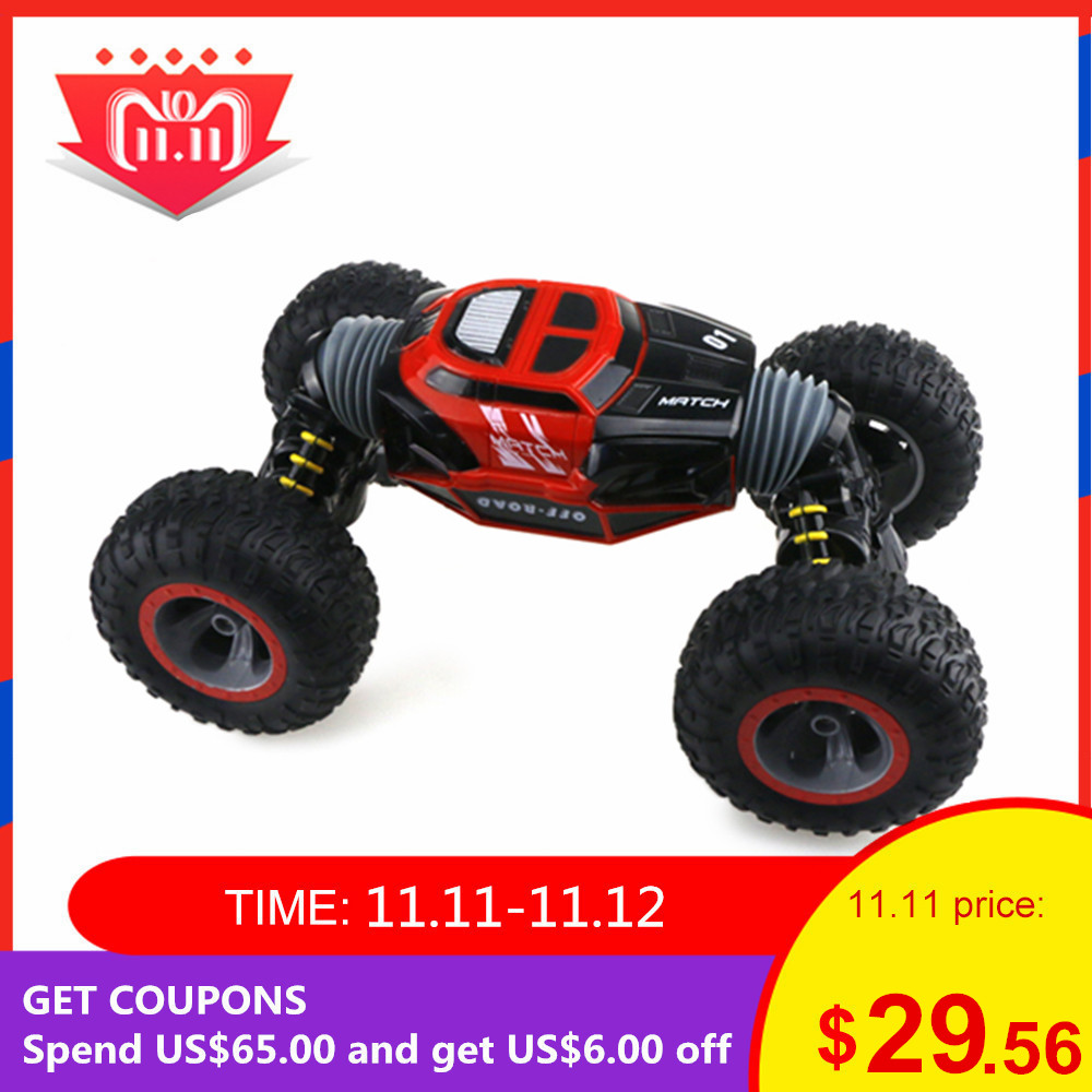 2019 RC Car 2.4Ghz 1/16 4WD Double-Sided Remote Control Car Amphibious Vehicle Stunt Car RC Stunt Car Kids Children Toy For Fun