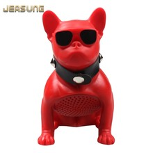 Jeasung Mini Wireless Bluetooth Speaker Bulldog, Full Dog Portable Music Stereo Speaker Player Caxia de som Boom Box Sound(China)