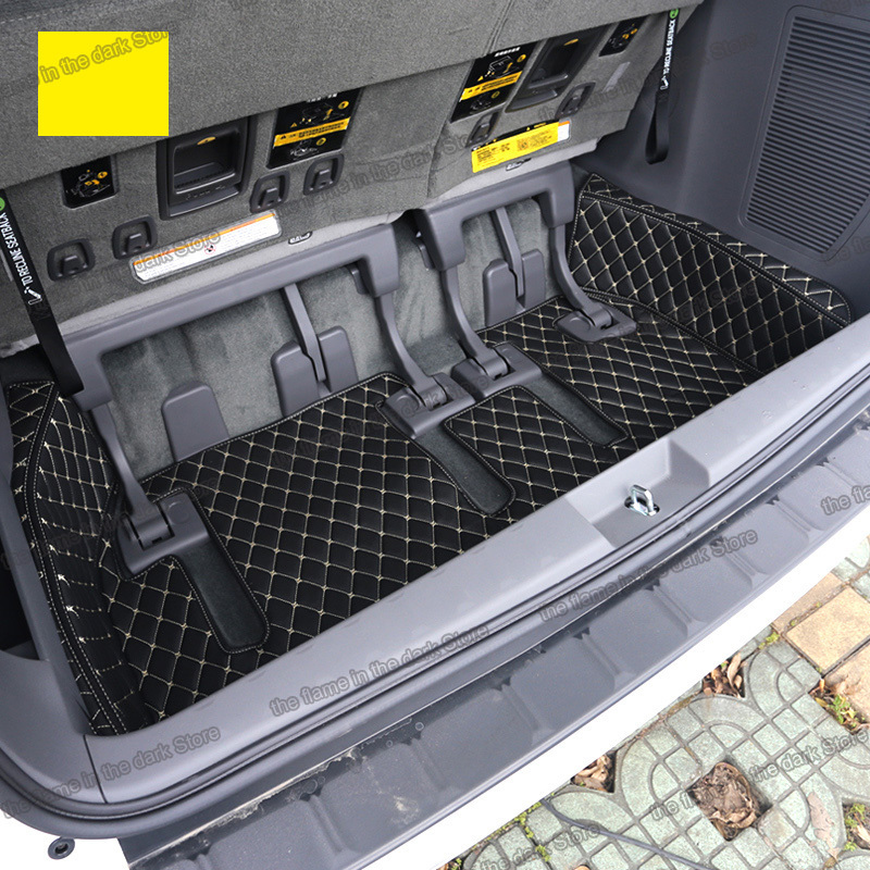 Lsrtw2017 Leather Car Trunk Mat Cargo Liner for Toyota Sienna 2011 2012 2013 2014 2015 2016 2017 2018 2019 Xl30 Accessories