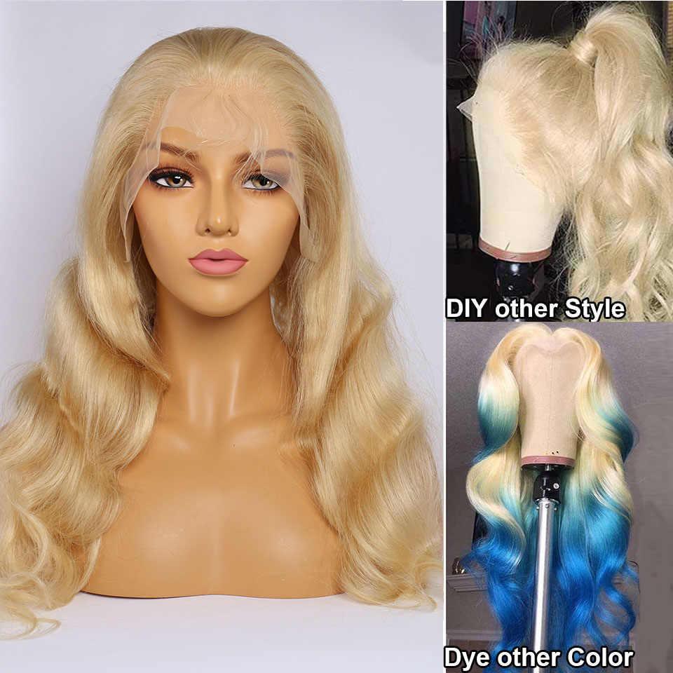 613 peruka HD koronkowa peruka peruka body wave blondynka ludzki włos koronki przodu peruka 13x6 koronkowa peruka na przód Maxine Remy 613 Frontal peruka 150 gęstość