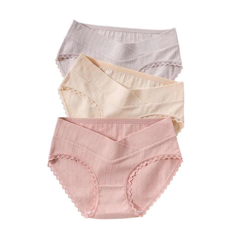 5544 #2 قطعة/الحقيبة مثير المطبوعة القطن الأمومة سراويل منخفضة الخصر V ملخصات للنساء الحوامل الصيف الحمل الملابس الداخلية الملابس الداخلية