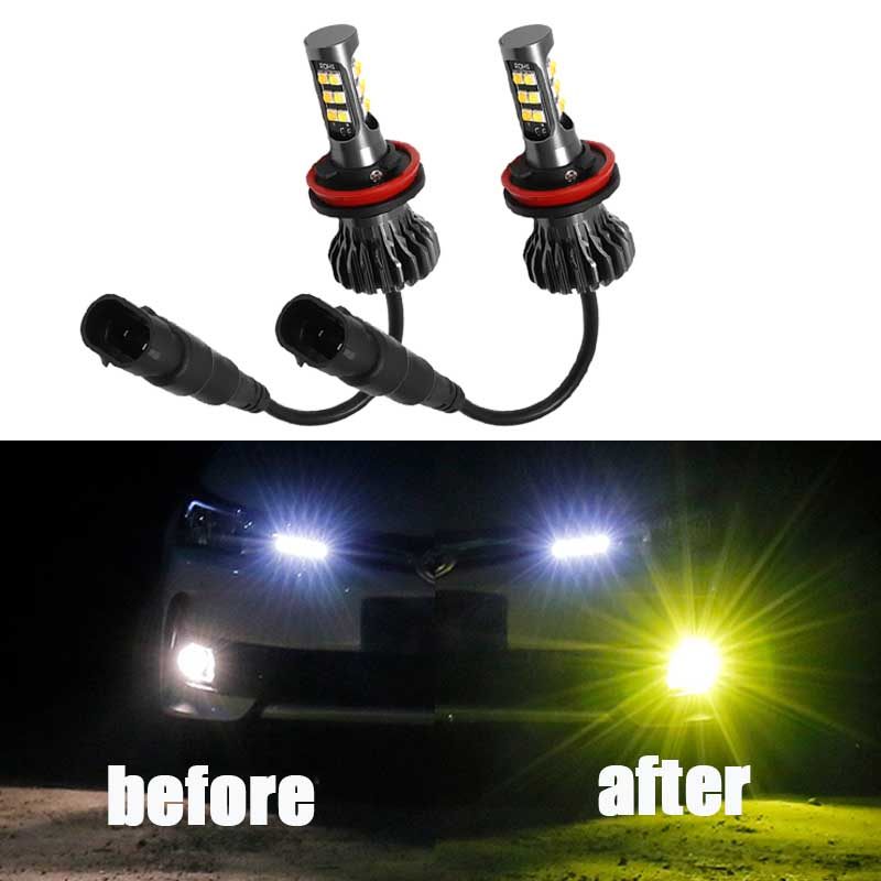 2pcs H11 H8 LED Fog <font><b>Light</b></font> Bulb For <font><b>Chevrolet</b></font> Captiva Aveo Lacetti Spark <font><b>Cruze</b></font> <font><b>2011</b></font> Niva Orlando <font><b>Running</b></font> Lamp DRL Foglights image