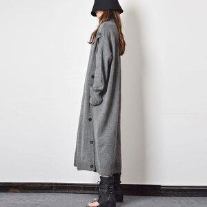 Image 3 - XITAO Taste Dekoration Gestrickte Casual Kleid Frauen 2019 Winter Grau Koreanische Mode Neue Stil Rollkragen Kragen Gerade GCC2040
