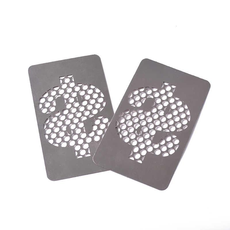 Aluminium legierung unkraut Kraut karte Brecher Tasche Trockenen Unkraut Kraut Rauchen karte Zubehör Manuelle Maschine Tabak Grinder Karte