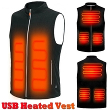 5 Heating Areas Men Autumn Winter Warm Electric Thermal Cloth Waistcoat Fish Hiking Outdoor USB Infrared Heating Vest Jacket cheap NoEnName_Null CN(Origin) Polyester zipper Jacket heated NONE Solid Regular V-Neck Outerwear Coats Pockets Men s winter jacket