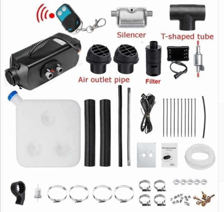 أسود 12 فولت 24 فولت 5kw ديزل مسخن الهواء Ce بنفايات وقوف السيارات مسخن الهواء سخان مساعدة سخان 12 فولت