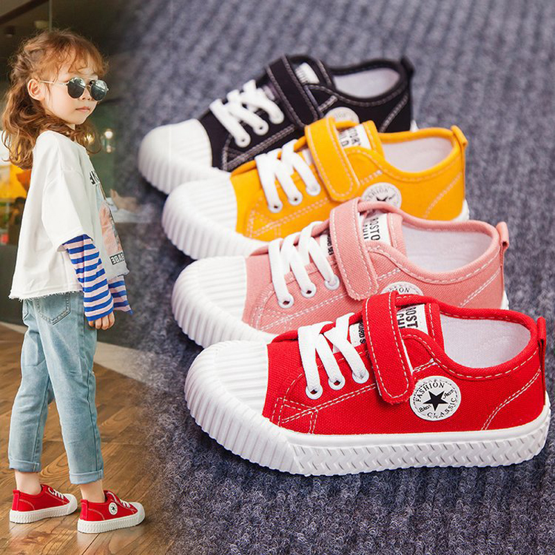 Children's Shoes Kids Fashion Sneakers Light Canvas Casual Shoes Spring Autumn 2020 New Retro Biscuit Shoes For Boys Girls