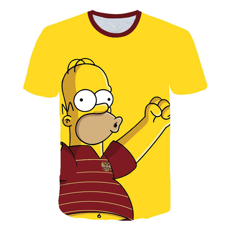 2019 New 3d Print Simpson T-shirts Funny Tee Hiphop Tracksuit Tops S-6xl