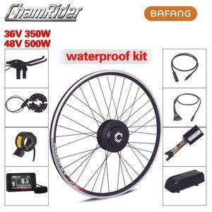 Image 1 - BAFANG 36V 350W 48V 500W Ebike zestaw do konwersji roweru elektrycznego SWX02 8fun marka bez baterii wyświetlacz LCD RM G020.350/500.D DC