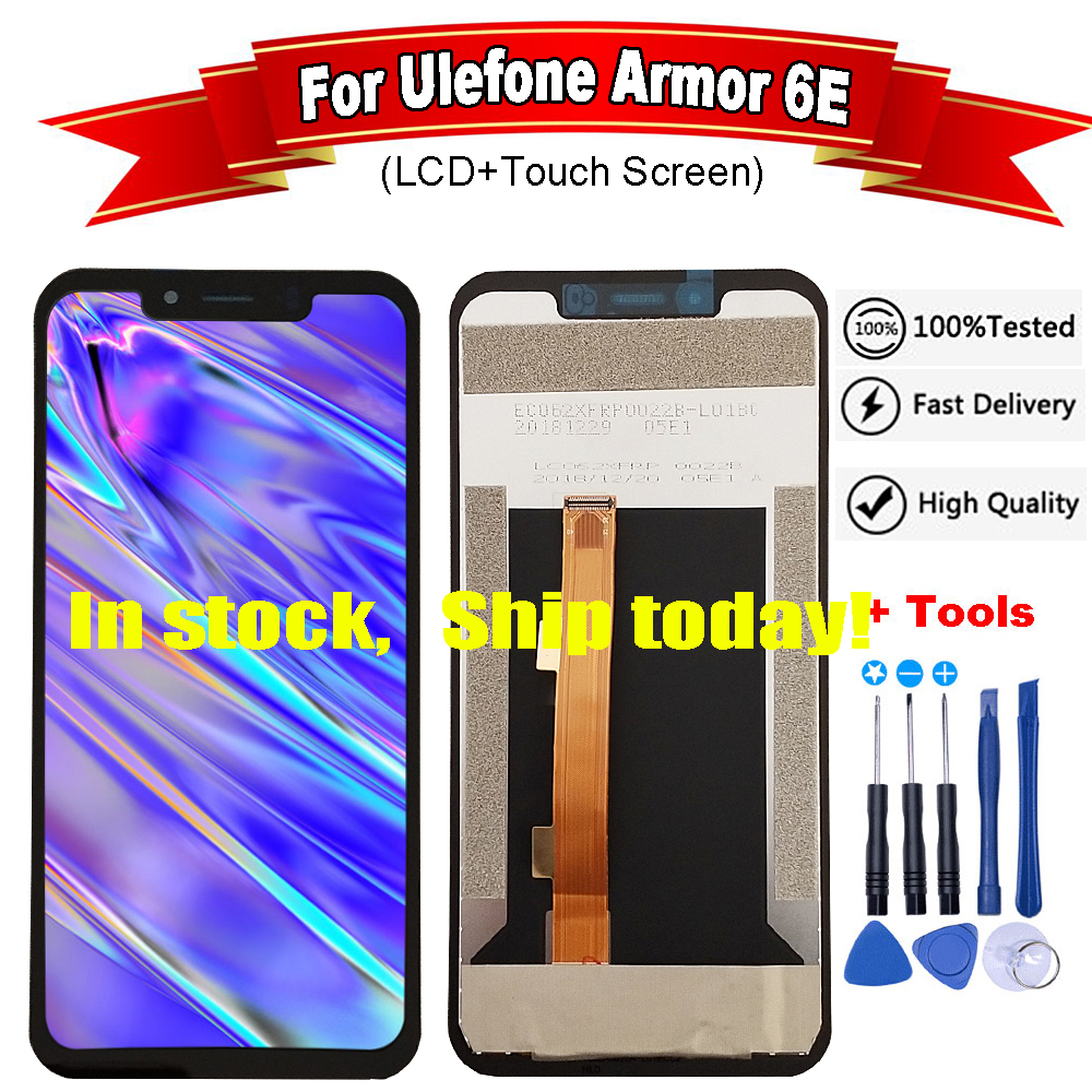 For Ulefone Armor 6E LCD Display+Touch Screen Assembly Repair Parts Replacement Accessories For ulefone armor 6 lcd +free tools(China)