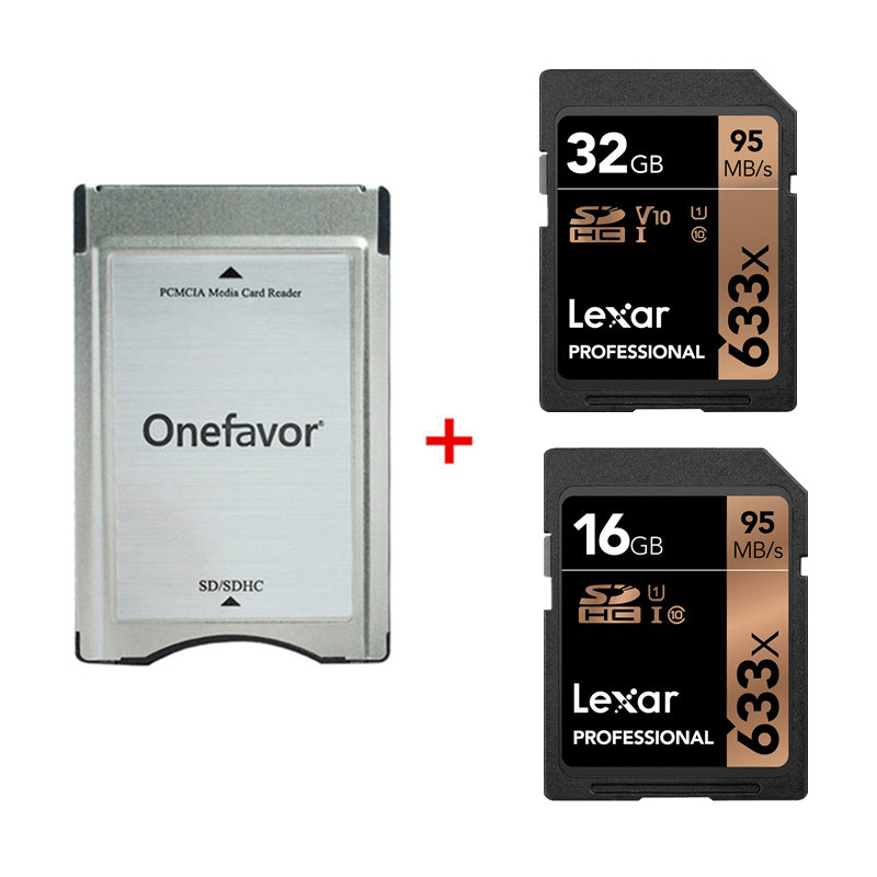 New!!! Lexar 16GB 32GB SD SDHC Card UI PROFESSIONAL 95MB/S 633X + SD SDHC Card Adapter Converter For Mercedes Benz
