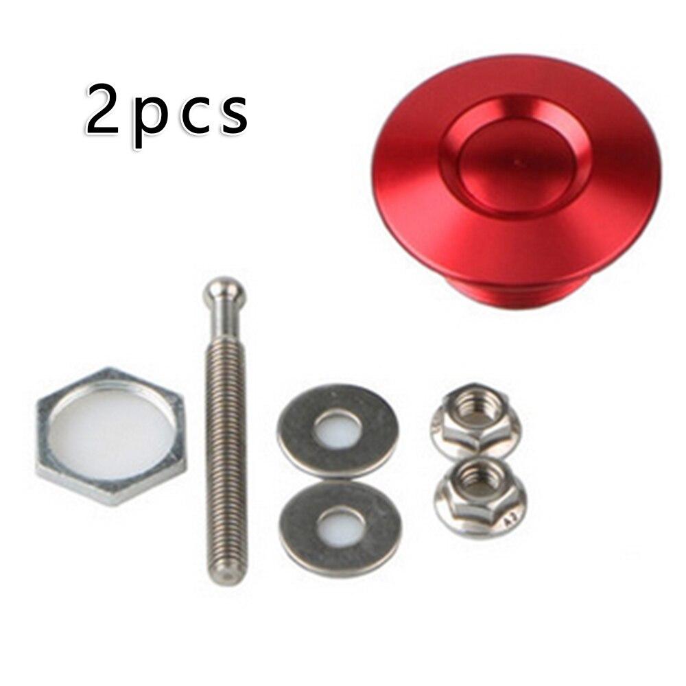 2x Universal Push Button Quick Release Hood Pins Bonnet Lock Clip Latch Bumper