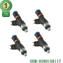 Conjunto de 4 Uds 550cc inyectores de combustible OEM 0280158117 para MINI COOPER S R52 R53 2003-2007 ajuste BOSCH EV14