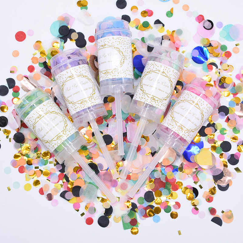 3 Sets Push Poppers Mixed Rose Gold Confetti Bride To Be Wedding Decoration Confetti Push Pop Baby Shower Party Supplies