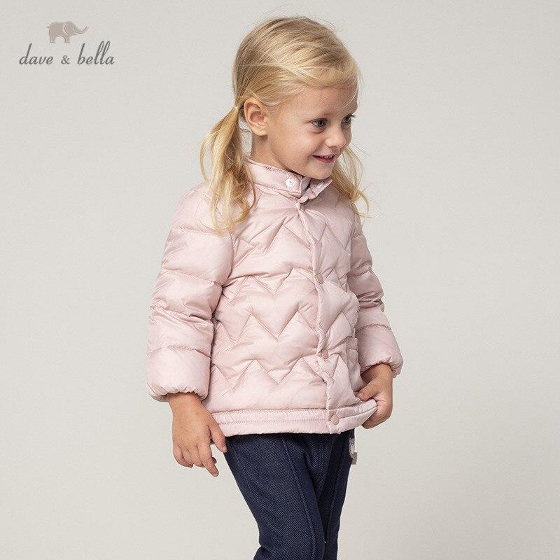 DB12395 Dave Bella Winter Baby Unisex Ultra Light Down Coat Cartoon Outerwear Children 90% White Duck Down Padded Kids Jacket