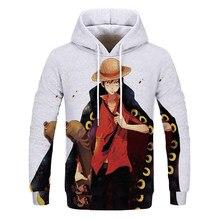 Anime uma peça hoodies 3d impressão pullovers roupas esportivas das mulheres dos homens crianças camisolas luffy menino menina crianças streetwear casual topos