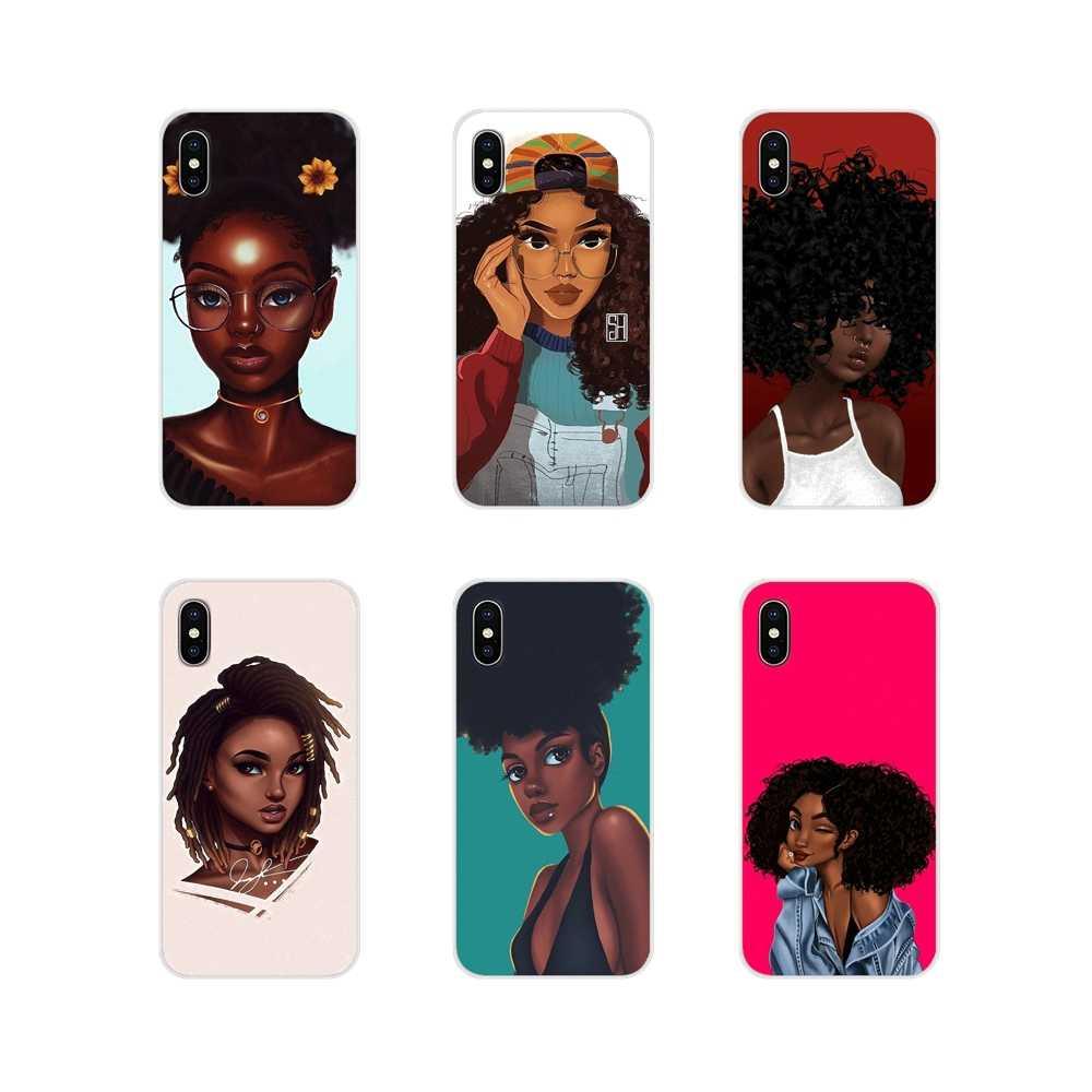 Etui z tpu afrykańskie piękno Afro Puffs czarna dziewczyna dla HTC One U11 U12 X9 M7 M8 A9 M9 M10 E9 Plus Desire 630 530 626 628 816 820 830