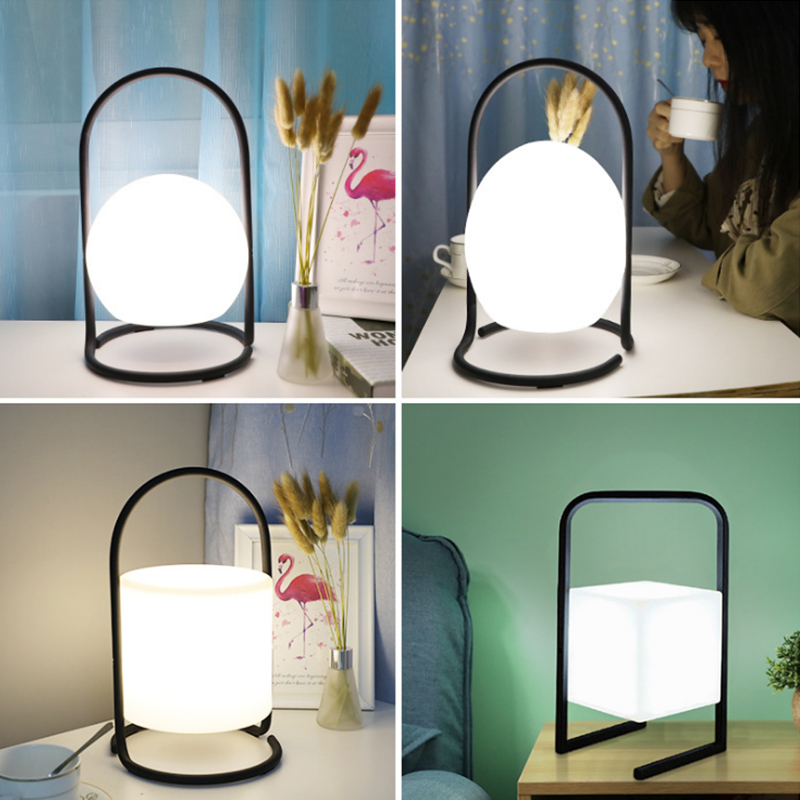 LED Night Light Nordic Bedroom Bedside Lamp Colorful Atmosphere Light Portable lamparas Home Decoration USB Charging Table Lamp