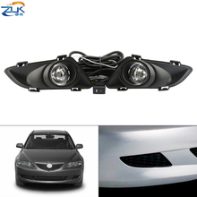 ZUK For Mazda 6 Atenza GG 2003 2005 Car Additional Upgrade Front Bumper Fog Light Anti Fog Lamp Set With Wire Switch Bulb Kit