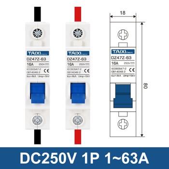 De Energía solar, fotovoltaicos CIRCUITO DE CC Breaker 1P 2P PV MCB DC250V 500V 1000V 63A 16A 32A 40A 50A 63A 80A 100A 125A interruptor de aire 2