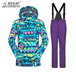 Image 3 - Winter Suit Ski Jacket Ski Suit Women Winter Jacket Female Snowboard Jacket Skiing Sport Suit Waterproof Snowboarding Snow Suit
