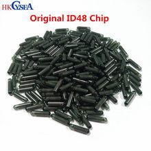 Hkcymar chip de chave de carro, transponder de vidro para desbloqueio/bloqueio, 10/50 pçs/lote tp08 id48 audi/skoda/seat
