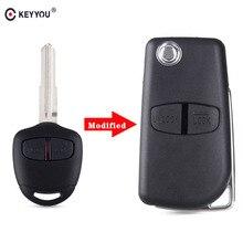 2 кнопки KEYYOU, раскладной чехол с дистанционным управлением для Mitsubishi New ASX GRANDIS Outlander LANCER EX, правое/левое лезвие