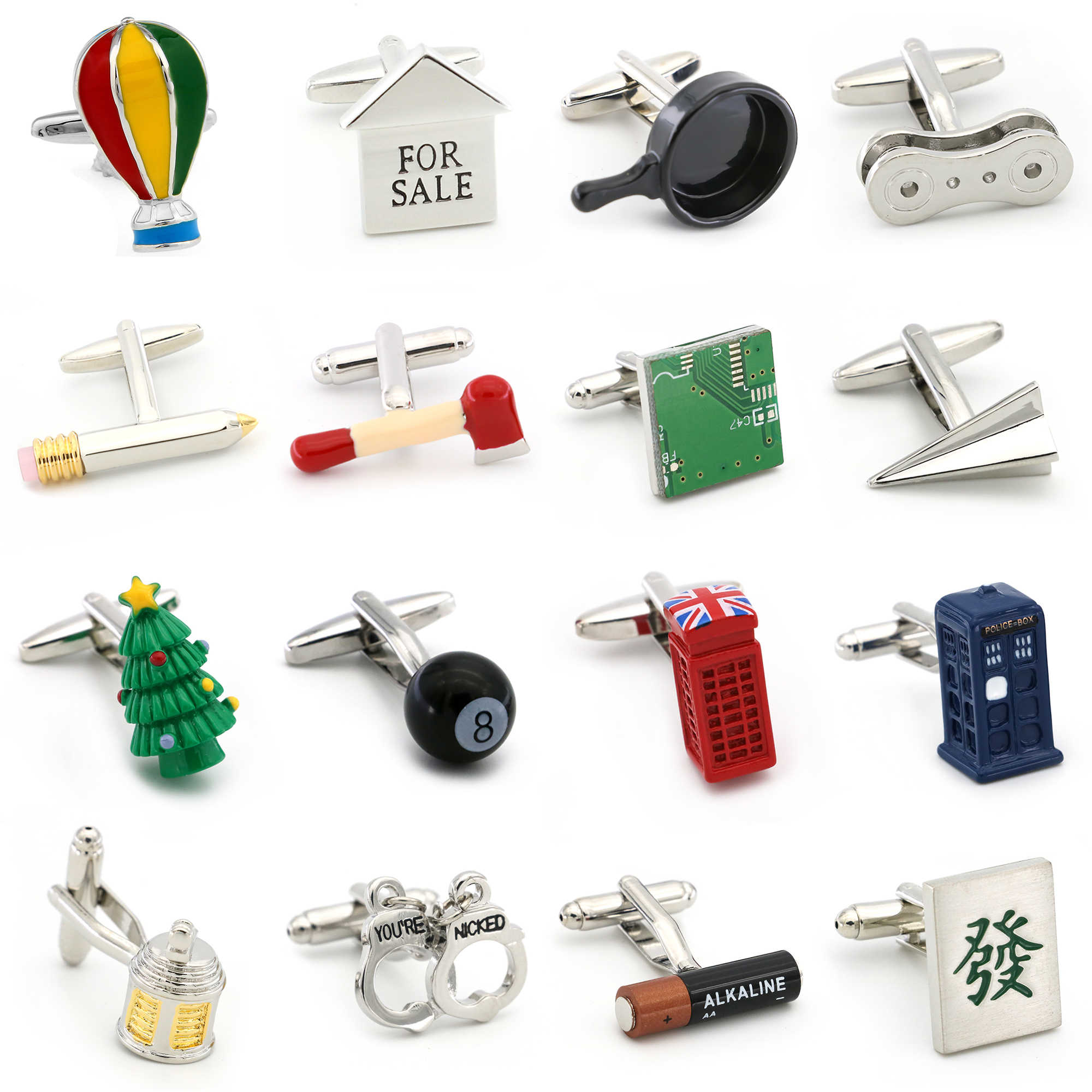 Men's Novelty Cufflinks 28 Styles Option Quality Brass Material Lifestyle Design Cuff Links Wholesale&retail