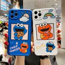 Phone-Case Photo-Frame Cookies Elmo Sesame Street Monster Soft-Cover Cartoon for 11 Pro-Max