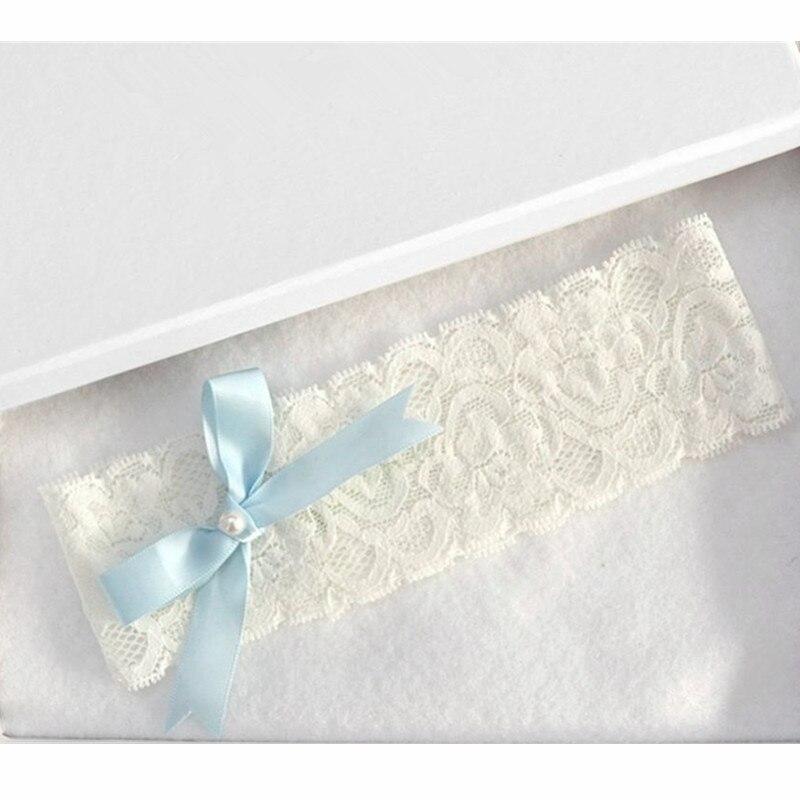 Blue Bowtie Lace Wedding Garter Toss Garter Wedding Garter Belt Bridal Lingerie White Garter Wedding Accessories