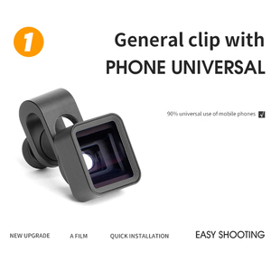 Image 3 - Geniş ekranlı cep telefonu anamorfik Lens geniş açı klip Film bozulma kamera Lens Iphone Samsung Hwawei akıllı telefon