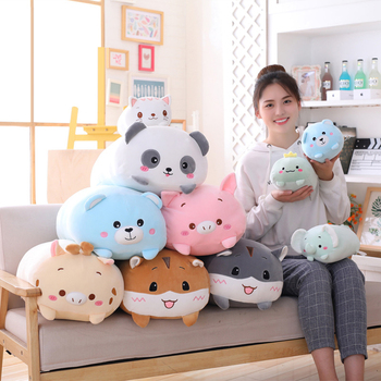 Animal Sweet Dinosaur&Pig&Cat&Bear Kawaii Plush Toy Soft Cartoon Panda&Hamster&Elephant&Deer Stuffed Doll Baby Pillow Gift Toys цена 2017