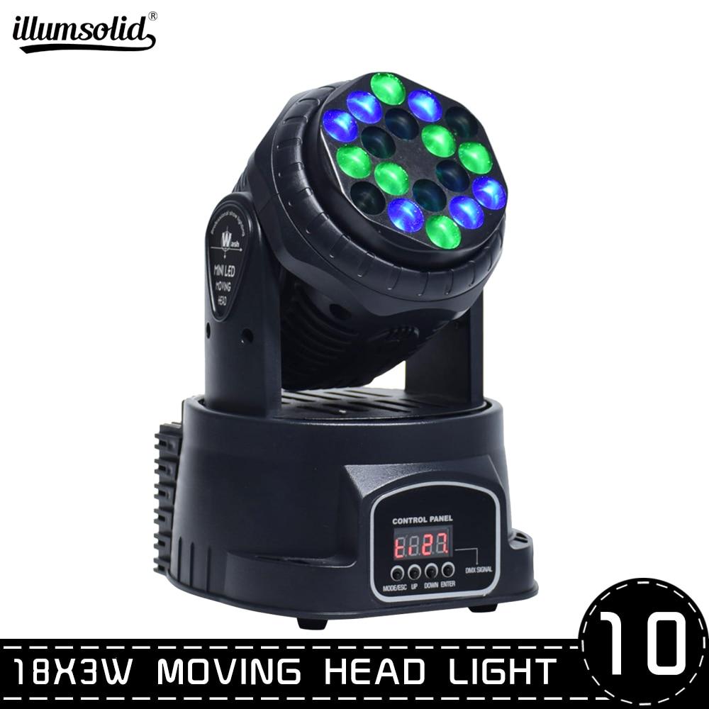 Lyre18x3w RGB LED Beam DMX Stage Moving Head Lights For Dj Christmas ,Ballroom, Concert,TV Architectural 10pcs/lot