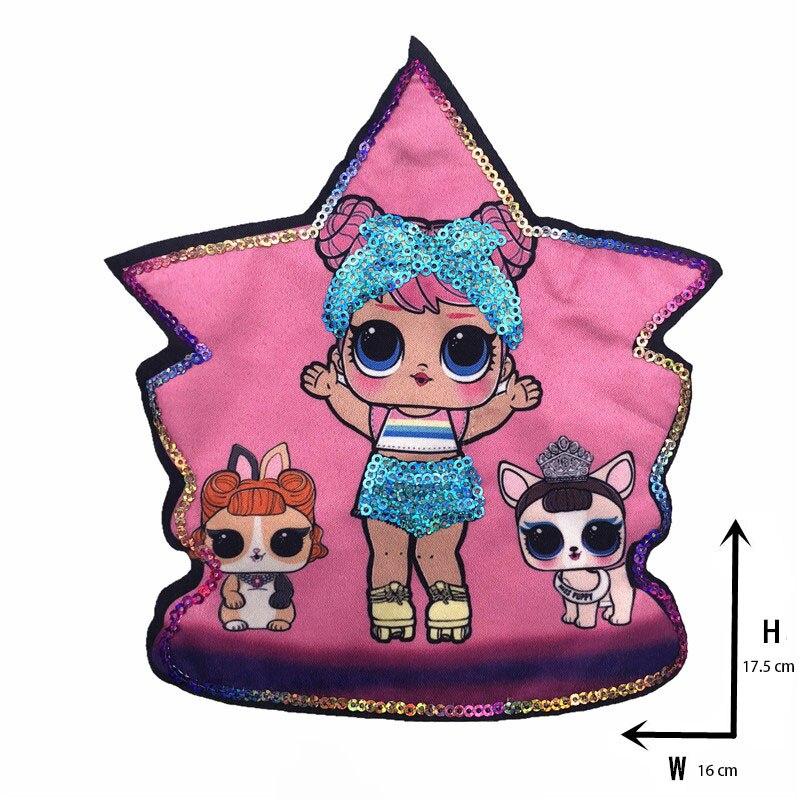 Мультяшные нашивки женские модные куклы лол для девочек Милая Модная Кукла-мальчик вышивка на одежду ручная работа украшение одежды Блестки Ткань - Цвет: new Xx-7