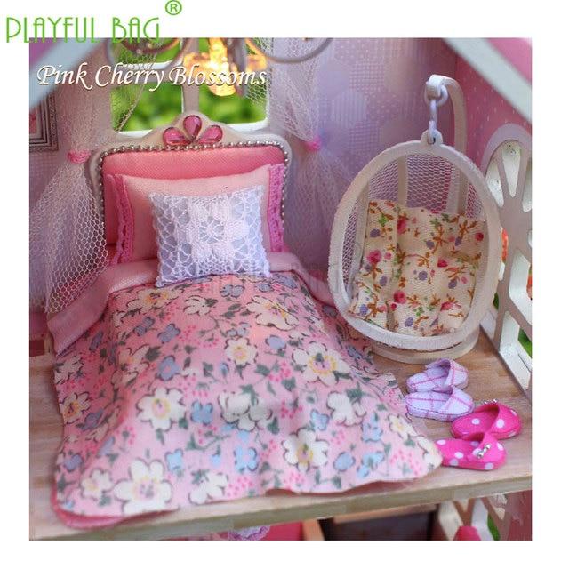 PB Playful bag Adult fun toys zhiqu house diy hut pink hand-assembled model girl girlfriend birthday child gift ZD23 2
