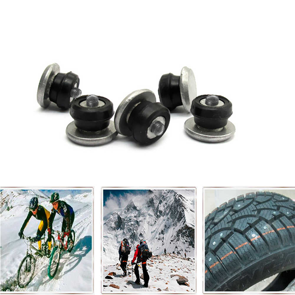 100Pcs Spike Set Durable Cleats Studs Winter Accessories Wheel Screws Car Tire Mini Anti Slip Sleeve Protection Wear Resistance