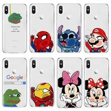 Dla smutna żaba dla iPhone 11 6 X Xs Max XR 5 SE 6 S 7 8 Plus Capa dla iPhone 6 6 S Plus TPU 7 8 Plus X XS XS Max XR 11 Pro MAX(China)