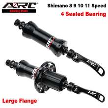 arc road bike carbon fiber hub 6 claws 72 ring sound quick release straight pull 20 24 hole ultra light v brake 8 9 10 11 speed ARC Aluminum Road Hub Front 100mm 20 Hole Rear 130mm 24 Hole V Brake Bike Hub Wheelset Hub Shimano Freehub 11S Bike Accessories