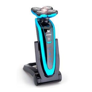 Image 5 - 충전식 전기 면도기 전신 세척 5D 플로팅 헤드 면도기 남성용 방수 전기 면도기 43D