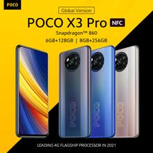 [Światowa premiera W magazynie] POCO X3 Pro globalna wersja Octa Core Snapdragon 860 Smartphone 120Hz wyświetlacz punktowy 5160mAh 33W NFC tanie tanio Niewymienna 128G CN (pochodzenie) Android Zamontowane z boku Rozpoznawanie twarzy 48Mp Adaptacyjne szybkie ładowanie USB-PD