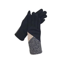 Fashion Gloves Wrist-Warmers Driving Riding Outdoor Black Sports Winter Large-Size Lycra