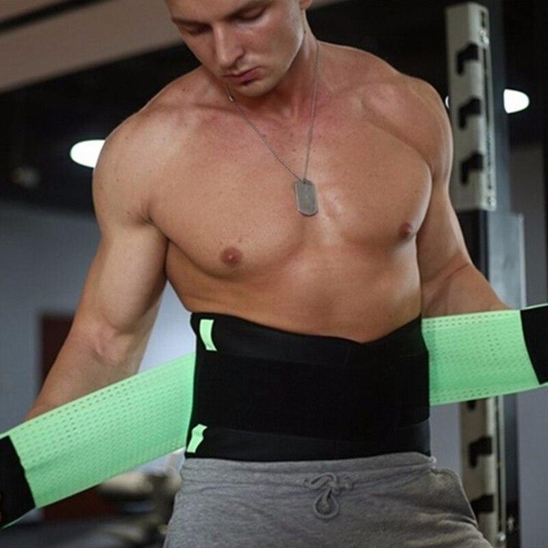 2019 Men Women Popular Waist Support Fitness Belt Elastic Shaping Sweat Wicking Abdomen Sports Fitness Belt