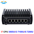 Pfsense fanless mini pc x86 core i3 7100u i5 7200u celeron 3865u 6 * Intel Lan DDR4 linux router firewall DHCP server di rete VPN