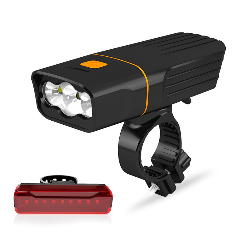 Bicycle Light 16000 Lumen USB Rechargeable Bicycle Light Runtime 10 Hrs 3*T6 Cycling Flashlight Waterproof Headlamp With Safe