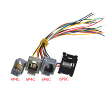 10PCS RJ11 RJ12 RJ45 FEMININO SOQUETE do conector com fio de telefone 4P4C 6P4C 6P6C 8P8C jack fêmea conector 616E 623K 616M 641D