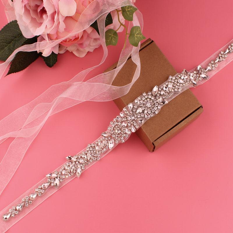 Beige belt transparent color belt bridal wedding belt crystal rhinestone belt women\'s belt accessories