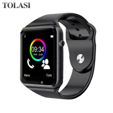 A1 WristWatch Bluetooth Smart Watch Sport Pedometer with SIM Camera Smartwatch For Android Smartphone Russia цена