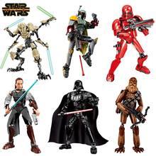 Star Wars mandalorcu imara rakamlar Darth Vader Kylo Ren Chewbacca Boba Jango Fett genel Grievou eylem şekilli kalıp oyuncak